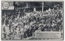 Funeral of King Edward VII, King & Queen Mother Following The Coffin PPC, Unused