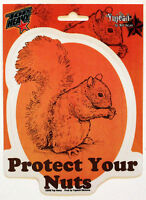 Protect Your Nuts Sticker Squirrel Decal Top Heavy Car Window Computer Locker