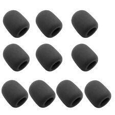 Satz 10 Stück Schwarz Handheld Mikrofon Windschutz Popschutz aus Schaumstoff