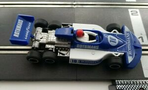 Scalextric Car F1 C129 240 March Ford 771 6 Six Wheeler Blue Rothmans Working