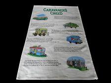 Australia Souvenir The Caravaners Creed Kitchen Tea Towel Australia 48cm x 74cm