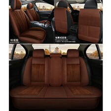 Coffe Soft Plush Car SUV Seat Cover Deluxe 5-Seats Cushions Full Set Protector
