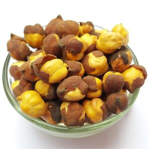 Roasted Golden Unsalted Chickpea with Husk Gram Chana Daria Garbanzo Beans