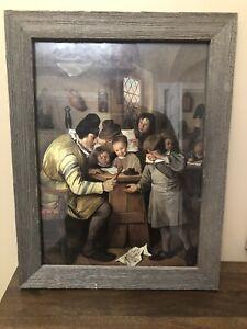 Jan Steen The Village Framed Printed - 11x14