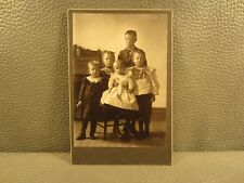 Victorian Antique Cabinet Card Photo of a Family of Five Children