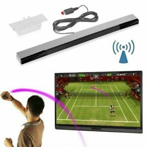 For Nintendo Wii / Wii U Sensor Bar Motion Replacement Cable Wire Silver UK New