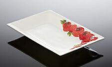 BASSANO rechteckige Servierschale Servierplatte Tomaten 31x21 Ital. Keramik
