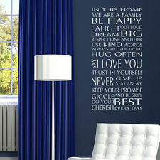 QUOTE WALL STICKERS! In Our Home Removable Art Decals Interior Family Room Decor