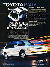 1986 1987 Toyota Corolla FX16 - Applause - Classic Vintage Advertisement Ad D77