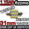 30mm 31mm 12 SMD LED NUMBER PLATE INTERIOR DOME LIGHT FESTOON BULB 12v WHITE 269
