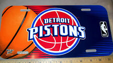 Detroit Pistons NBA basketball team Plastic License Plate, made in the USA