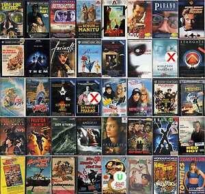 VHS Film-Kriegsfilme-Komödie-Anime-Comic-Klassiker-FSK 0-16-Sammlung-Top Filme