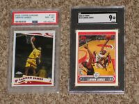 LeBron James 2005-06 Topps Chrome + 2006-07 Topps Bundle PSA SGC 8 9 MINT Lot