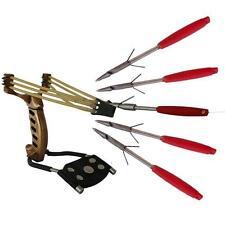 Sniper Hunting Fishing Folding Slingshot Wrist Brace Catapult + 5pcs Harpoon