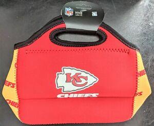 Kansas City Chiefs Zipper Lunch Bag or Clutch, NFL Licensed Neoprene