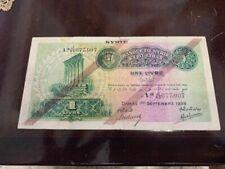 1939 syria , syria 1 LIVRE  paper money