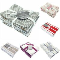 100% Cotton 10 Pack Catering Tea Towels Kitchen Restaurant Bar Glass Cloths