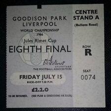 1966 ORIGINAL WORLD CUP TICKET BRAZIL v HUNGARY @Goodison Park *Excellent*