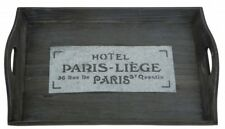 Holz Tablett PARIS Serviertablett Servierplatte Holztablett Frühstückstablett