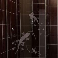 Glasdekor Geckos Gekkos Tiere Bad Aufkleber Sandstrahl Glas Tattoo #5015