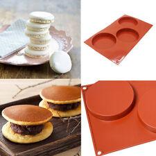 3-Hole Silicone Disc Cake Pie Custard Tart Coaster Mould Bakeware Mold Tools N7