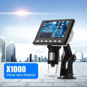 """4.3"""" Mikroskop 1000x USB HD LCD Digital Microscope 1080P Lupe mit StäNder 8 LED"""