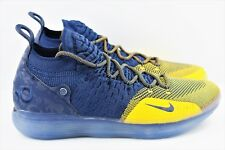 e46d121b8893 Nike Zoom KD 11 Mens Size 11 Basketball Shoes Michigan College Navy AO2604  400