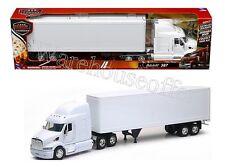 NEWRAY 1:32 LONG HAUL TRUCKER PETERBILT 387 TRAILER SEMI PLAIN WHITE SS-12343G