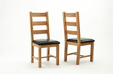 Devon Oak Ladder Back Dining Chairs - Sold in Pairs