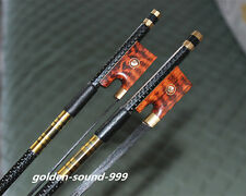 5 PC Pro light carbon fiber 4/4 violin fiddle bow copper parts black horse hair