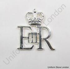 Badge Silver EIIR & Crown Size 25 x25 mm Sold Each R1501