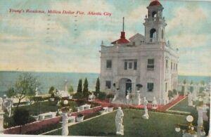 VTG Postcard Residence Capt John L. Young Million Dollar Pier Boardwalk Empire