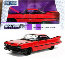1959 Cadillac Coupe DeVille Hardtop Rot Red 1:24 Jada Toys 99990
