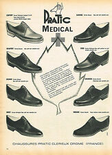 PUBLICITE ADVERTISING 114  1961  PRATIC MEDICAL   chaussures homme