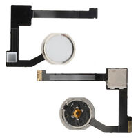 For Apple iPad Air 2 Home Button Key + Flex Cable Assembly Silver A1566 A1567