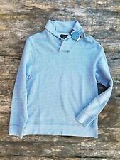 GOODLIFE medium Natural Indigo Dye shawl neck pullover sweater made in Peru NEW