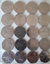 20 x  50 pence Coins Rare 50p Bulk Collection Commemorative Beatrix Olympic VGC