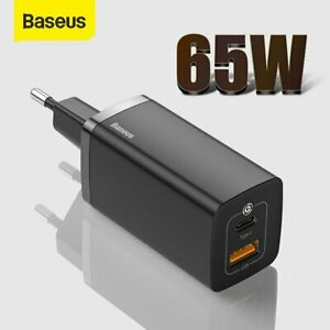 Baseus 65W GaN USB Type-C PD Fast Charging Wall Charger EU Plug For iPhone 12 11
