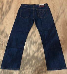 Men's TROY LEE DESIGNS jeans size W32 blue denim zip fly cotton acrylic racer