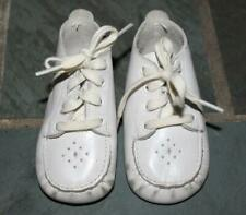 Vintage Buntees White Leather Moccasins Baby Shoes