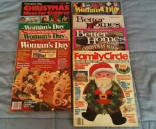 1975-1988 FAMILY CIRCLE BETTER HOMES WOMANS DAY CHRISTMAS MAGAZINES LOT OF 8