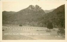 RPPC Postcard; Seneca Rocks Pendleton County WV Elev. 2500 ft. 2.CEG.31 Unposted