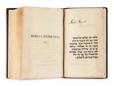 (JUDAICA.) Biblia Hebraica. Lot 135