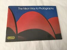 The Nikon Way to Photograph vintage with lens catalogue