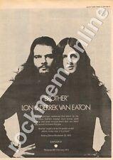 Lon & Derrek Van Eaton Beatles Apple Records SAPCOR 25 MM3 '45 advert 1973