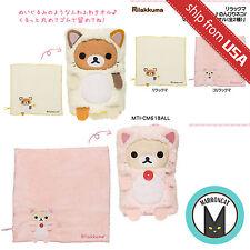 Lot 2 Japan San-X Rilakkuma Korilakkuma Cat Mini Roll up Towel Cute Kawaii Neko