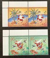 Christmas Island. Pair of Christmas Set. With Tabs. SG579/80. 2005. MNH. (H151)