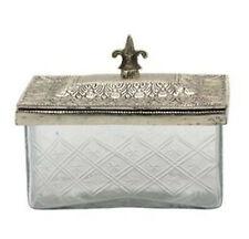 Nostalgische Glas-schale Metall Antik Shabby Bonboniere Deko Silber Vintage
