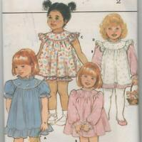 Toddler Dress, Pinafore and Panties Sewing Pattern Size 2 Butterick 3039 Uncut