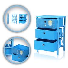 Makika faltbare Kommode für Kinder mit 3 Schubladen In blau